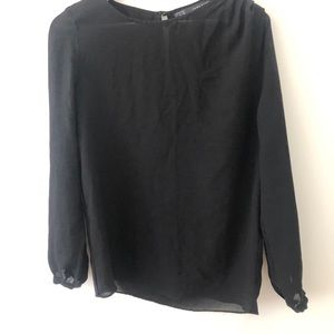 Sheer black ZARA blouse. Great condition